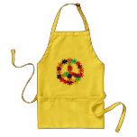 Peace and Flower Power Standard Apron