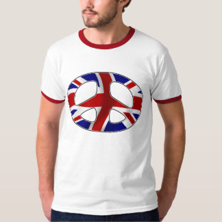 peace badge uk tee shirts