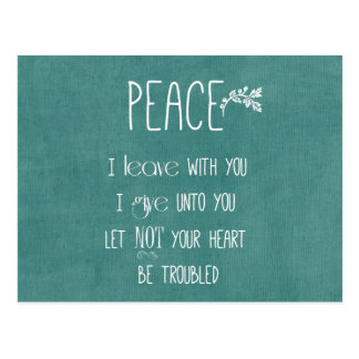 Peace Bible Verse Postcard