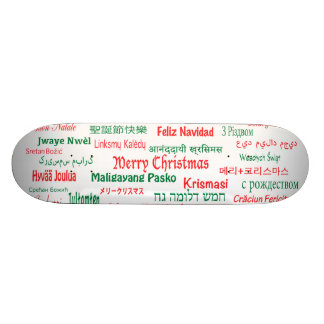 Peace Coexist Happy Merry Christmas Many Languages 21.6 Cm Old School Skateboard Deck
