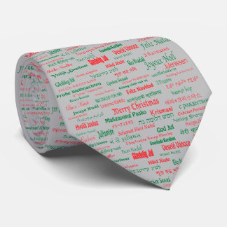 Peace Coexist Happy Merry Christmas Many Languages Tie