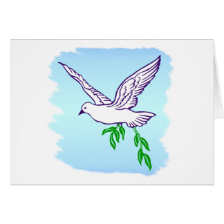 Peace Dove with Olive Branch Greeting Card