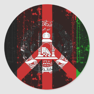 Peace In Afghanistan Round Sticker
