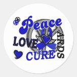 Peace Love Cure 2 ARDS Round Sticker