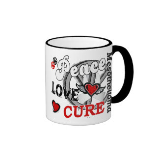 Peace Love Cure 2 Mesothelioma Ringer Mug