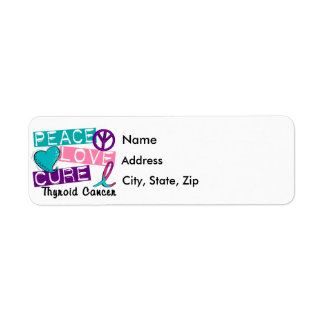 Peace Love Cure Thyroid Cancer Return Address Label