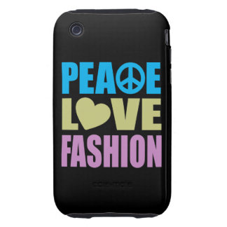 Peace Love Fashion Tough iPhone 3 Cover