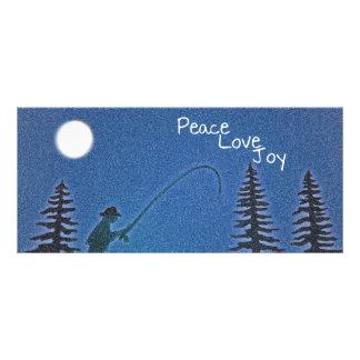 Peace, Love, Joy / Fly Fisherman in Snow bookmarks Customised Rack Card