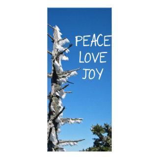Peace Love Joy - Simple Holiday Wish Bookmark Rack Card Template