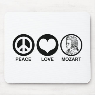 Peace Love Mozart Mouse Pad