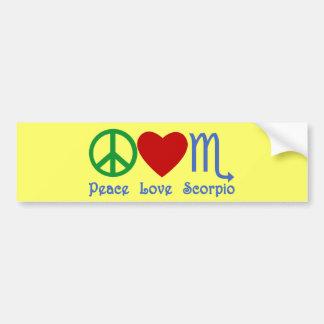 Peace Love Scorpio Zodiac Design Bumper Sticker