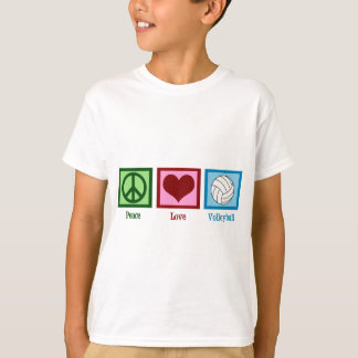 Peace Love Volleyball T-shirt