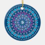 Peace Mandala Christmas Ornament