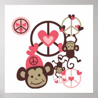Peace Monkey Poster