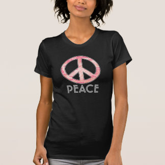 Peace Sign for Flower Power Girls, Pink Camouflage Tshirts