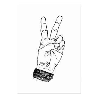 Peace Sign Pack Of Chubby Business Cards