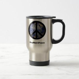 Peace Sign World Globe Travel Mug