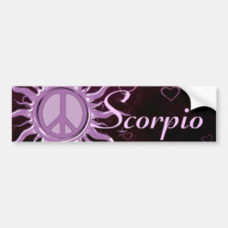 Peace Sun Scorpio Bumper Sticker