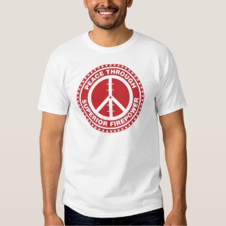 Peace Through Superior Firepower - Red T-shirts