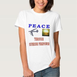PEACE THROUGH TEE SHIRTS