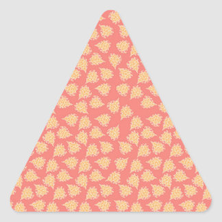 Peach Boho Hearts Triangle Sticker