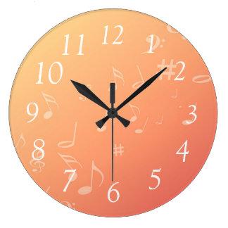 Peach Music Clock