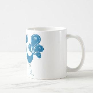 Peacock Love Aqua Basic White Mug