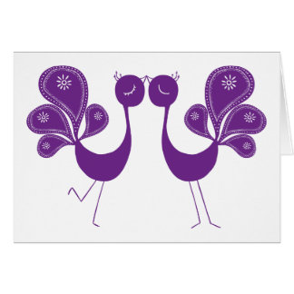 Peacock Love Lavender Greeting Card