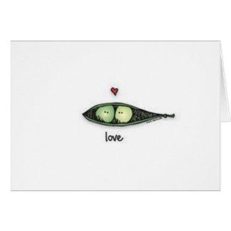 Peapod Love Greeting Card
