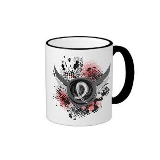 Pearl Ribbon And Wings Mesothelioma Ringer Mug