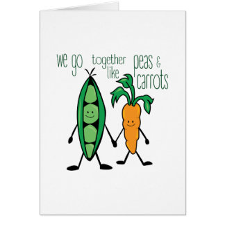 Peas & Carrots Greeting Card