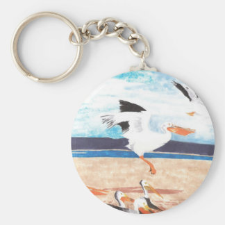 Pelicans Basic Round Button Key Ring