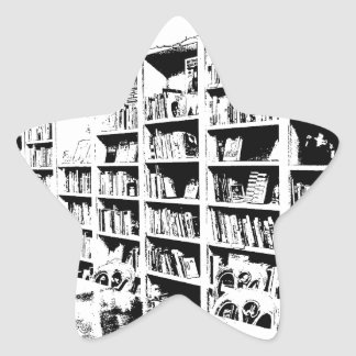 Pen and Ink Book Wall Star Sticker