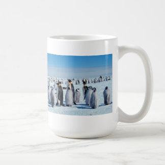 Penguin Gathering Basic White Mug