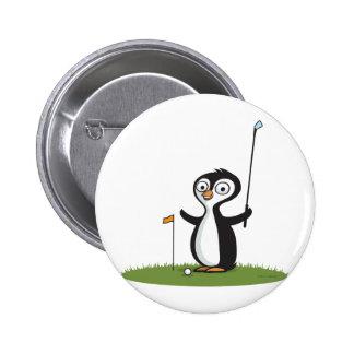 Penguin Golf 6 Cm Round Badge