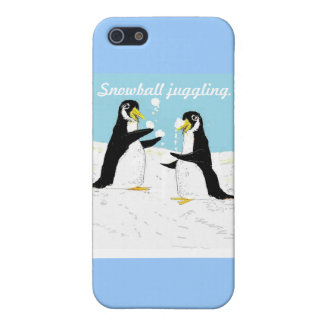 Pengy Penguin, snowball juggling iPhone 5 Covers