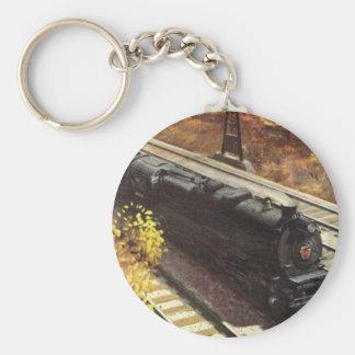 Pennsylvania Railroad Tanker Trains 1942 Basic Round Button Key Ring