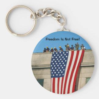 Pentagon 9/11 Flag Basic Round Button Key Ring
