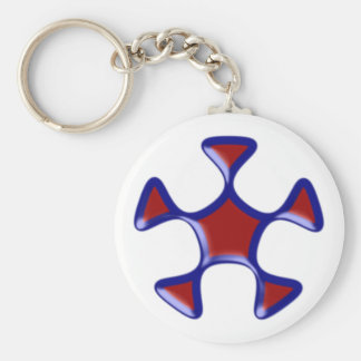 Pentagon Pentagon Basic Round Button Key Ring