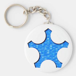 Pentagon star Pentagon star Basic Round Button Key Ring