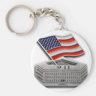 PENTAGON US FLAG 9-11 BASIC ROUND BUTTON KEY RING
