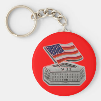 PENTAGON USA FLAG BASIC ROUND BUTTON KEY RING