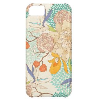 Peony Flower Pattern Apple iPhone 5C Case