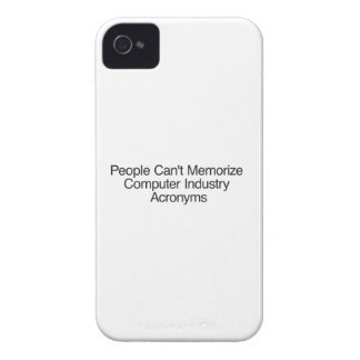 People Can't Memorize Computer Industry Acronyms Case-Mate iPhone 4 Cases