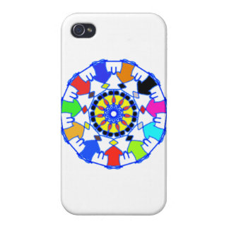 People circle pattern case for the iPhone 4
