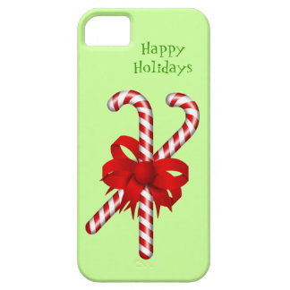 Peppermint Candy Cane Red Bow Custom Christmas iPhone 5 Case