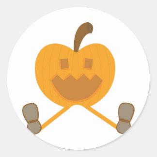 Percy Pumpkin Round Sticker