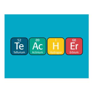 Periodic Table Elements Spelling Teacher Postcard