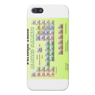 Periodic Table of rejected Elements Case For iPhone 5/5S