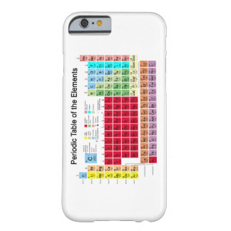 Periodic Table of the Elements Barely There iPhone 6 Case